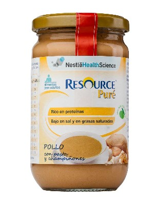 Resource pure de pollo pasta y champiñones 300 gr