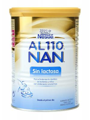Nestlé nan leche para bebés sin lactosa al-110 400g