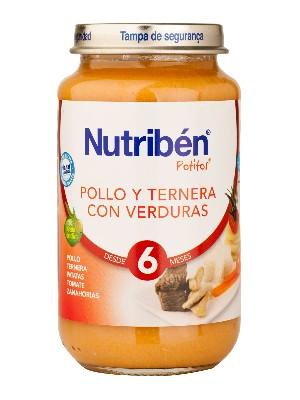 Nutriben pollo ternera verdura 250 gr