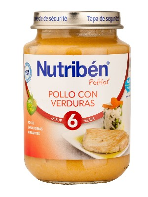 Nutriben pollo con verduras 200 g junior