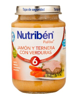 Nutriben junior jamon ternera verdura 200 g junior