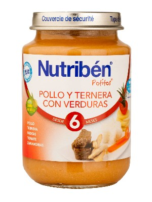 Nutriben junio pollo ternera verdura 200 gr