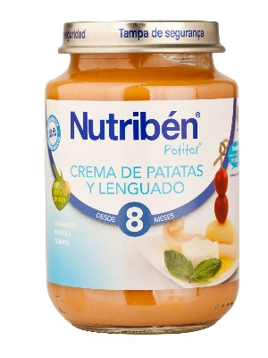 Nutriben junior crema de patatas y lenguado 200 g