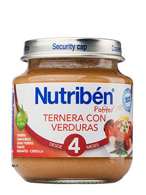 Nutriben ternera con verdura 130 gr