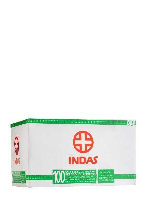 Gasas esterilizadas algodón hidrófilo 100 unidades indas