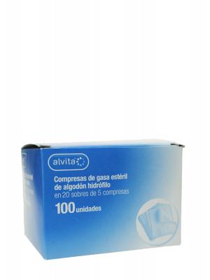 Alvita gasa esteril algodon hidrofilo 100 unidades