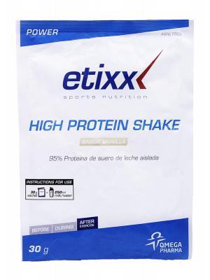 Etix high protein shake 1 sobre. para después del ejercicio.