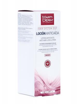 Loción anticaída hair system 3 gf 100ml martiderm