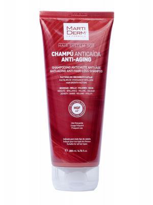 Champú anticaída  hair system 3 gf antiaging 200 ml martiderm