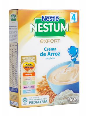 Crema de arroz sin gluten nestle nestum 250 gramos.