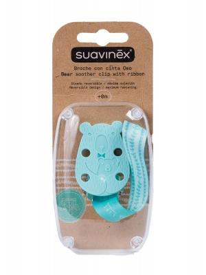 Broche cinta para sujetar el chupete con forma de oso de suavinex.