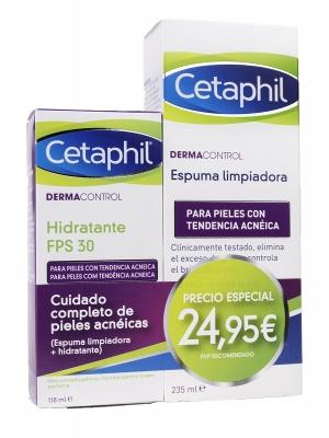 Cetaphil duplo dermacontrol hidratante fps30+espuma limpiadora