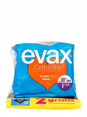 Evax alas super 12 unidades odorfresh