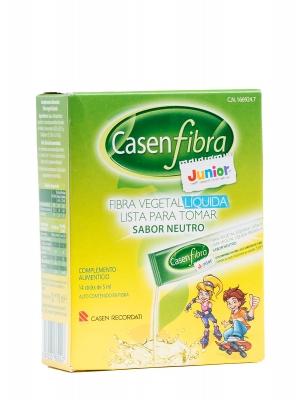 Fibra vegetal líquida casenfibra junior 14 sobres de 5 ml.