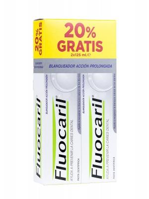 Duplo  de pasta de dientes blanqueadora fluocaril bi fluore 2x125ml.