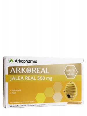 Jalea real fresca 500 mg arkoreal 20 ampollas