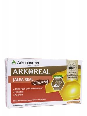 Jalea real fresca + ginseng + acerola + própolis dy, 20 ampollas