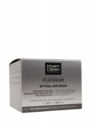 Martiderm platinum gf vital-age piel normal y mixta 50 ml