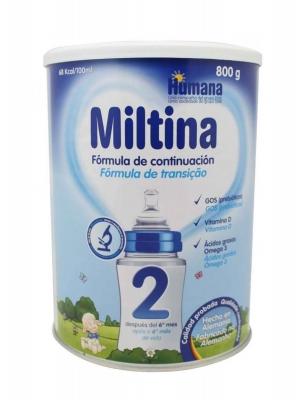 Miltina plus 2 leche de continuación 800 gr