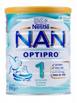 Nestlé nan 1 optipro leche de inicio 800 gr