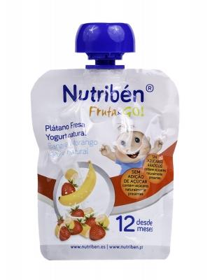 Nutriben fruta&go platano fresa yogurt 90g