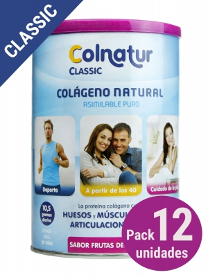 Pack 12 unidades colnatur® classic sabor frutas del bosque