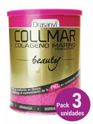 Pack 3 collmar beauty colágeno marino sabor granada