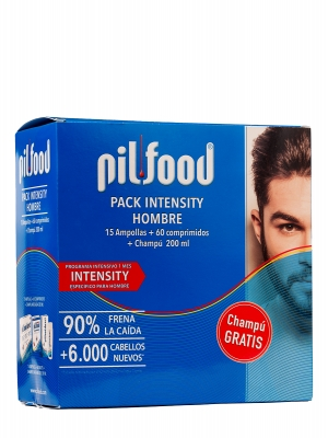 Pilfood pack energy hombre 60 comprimidos + champú anticaída gratis