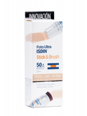 Isdin foto ultra stick y brush spf 50+ 7 gr (barra y brocha)