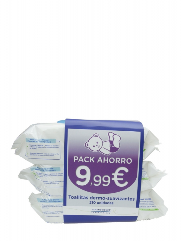 Pack de 3 paquetes de toallitas de mustela