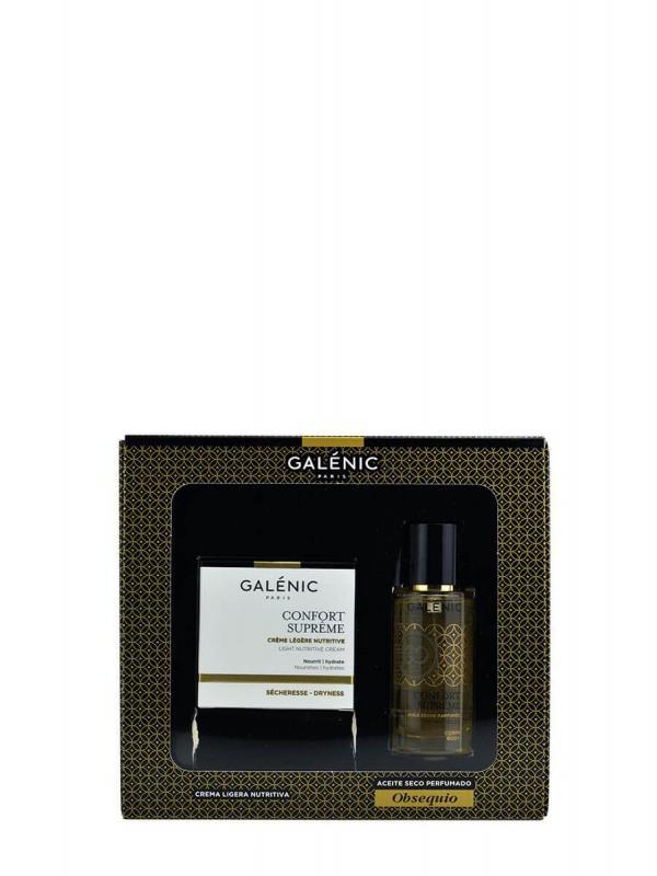 Galenic pack crema ligera + miniaceite 50 ml