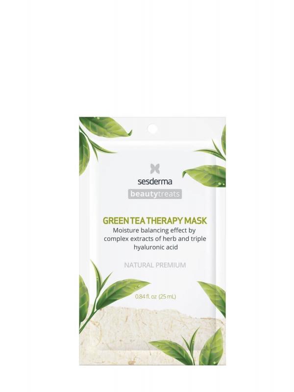 Sesderma green tea mascarilla facial hidratante 1 sobre 25 ml