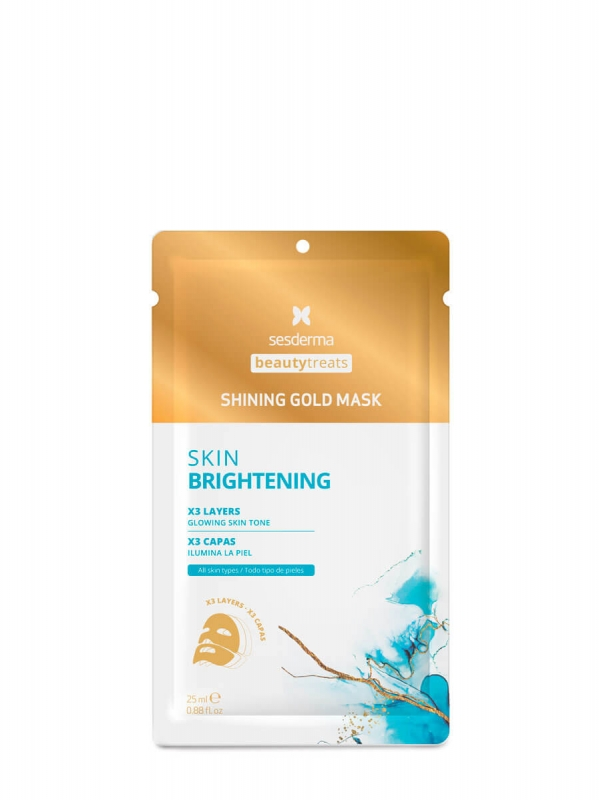 Sesderma shining gold mask skin brightening 1 sobre 25ml
