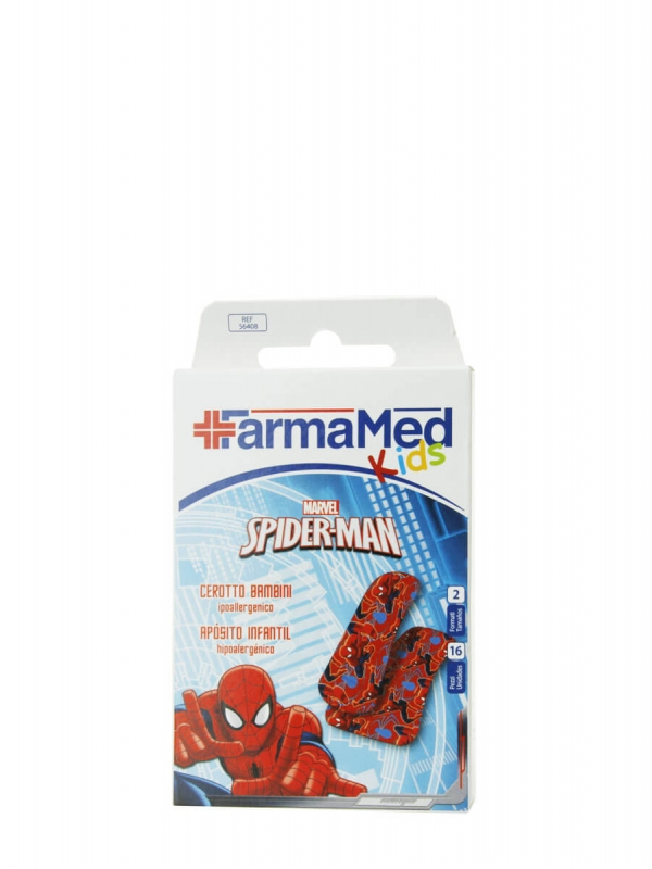 Farmamed spiderman tiritas infantiles 16 unidades