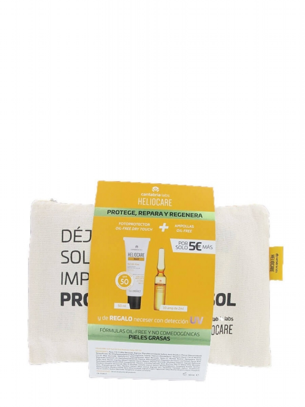Heliocare pack heliocare 360 gel oil free + endocare c oil-free ampollas