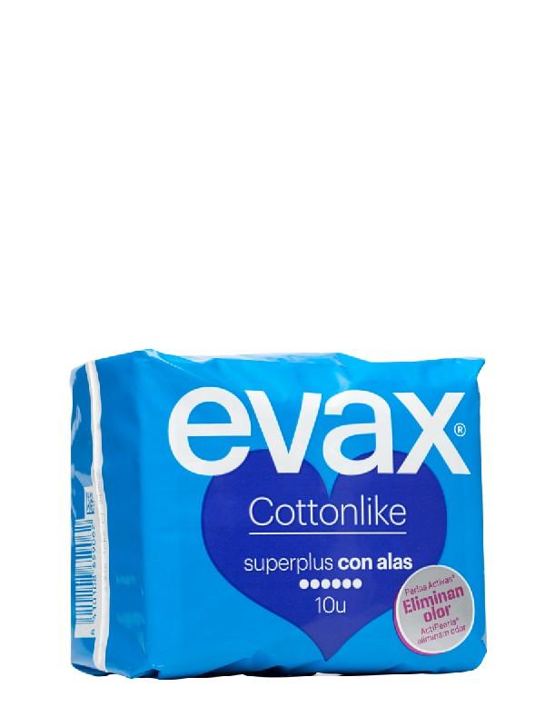 Evax alas super plus odor fresh 10 unidades