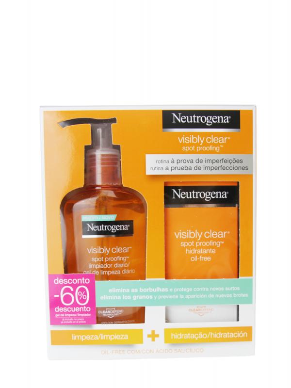 Neutrogena® pack visibly clear hidratante 50ml + limpiador 200ml