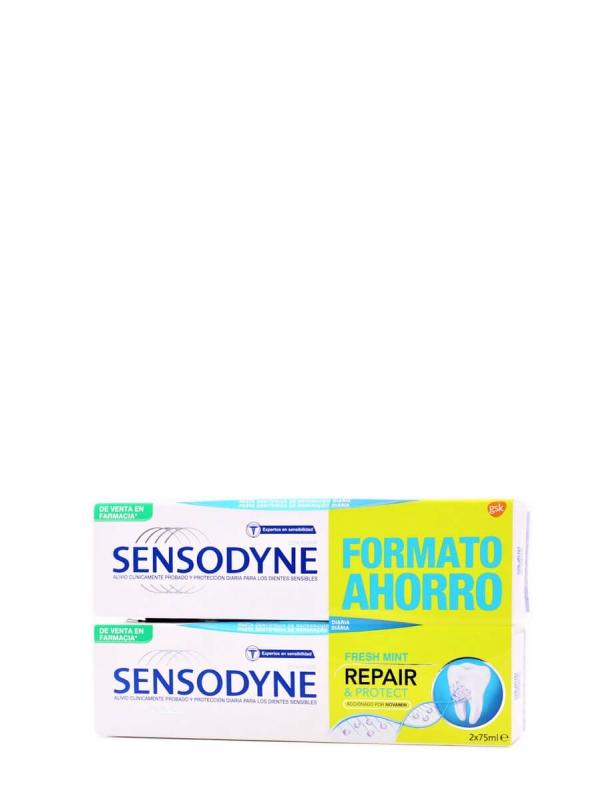 Sensodyne duplo repair&protect fresh mint 2x75ml
