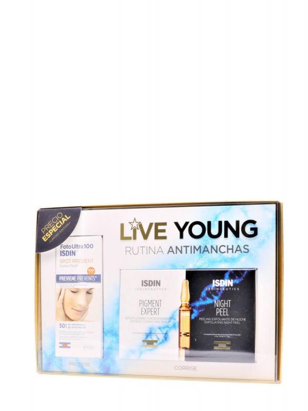 Isdin pack spot prevent+ampollas pigment expert y night peel