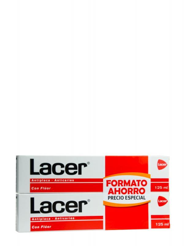 Lacer duplo pasta con fluor 125 ml x2