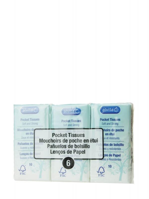 Alvita pañuelos bolsillo 6x10 pañuelos