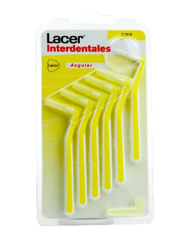 Lacer cepillo interdental fino angular 6 uniddades