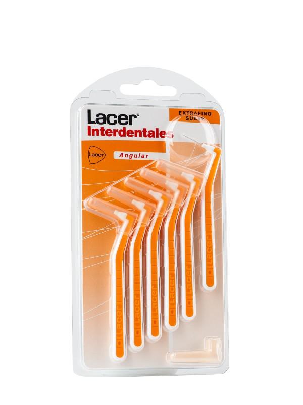 Lacer cepillo interdental suave angular 6 unidades