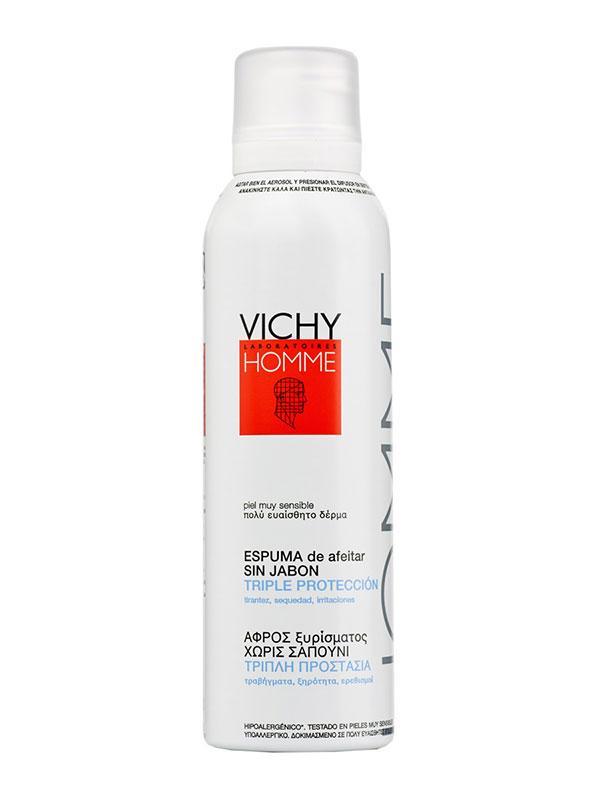 Vichy homme espuma afeitar sin jabon aerosol 200