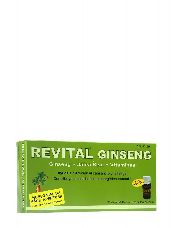 Revital  ginseng +vitamina c + jalea real 20 ampollas