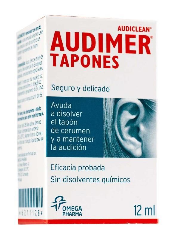 Audimer tapones solución de limpieza oido, 12 ml
