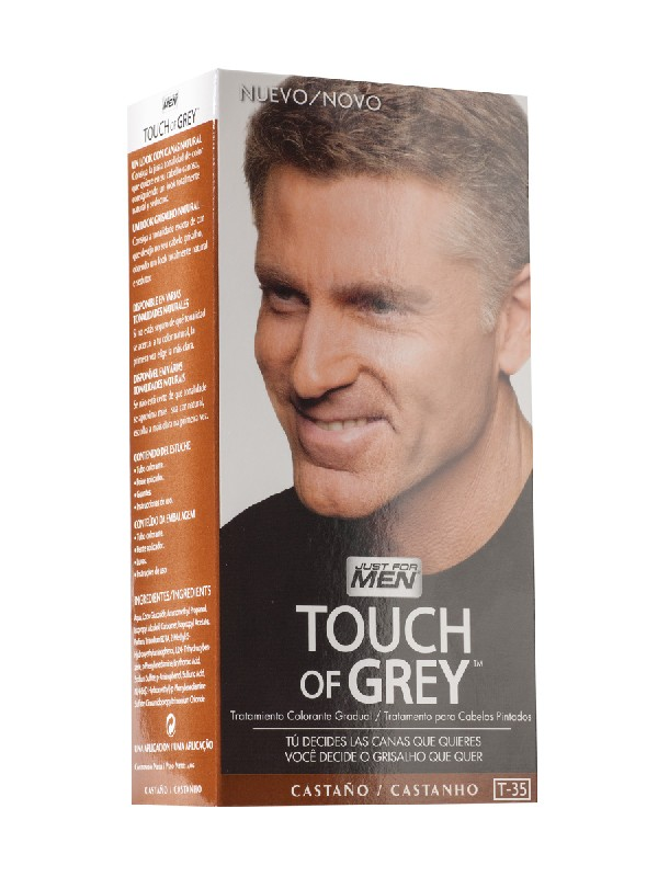 Just for men touch grey castaño