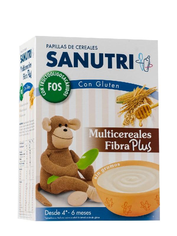 Sanutri  multicereales con fibra y bifidus 600gr