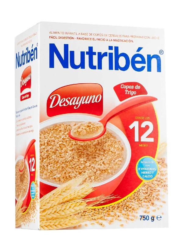 Nutriben desayuno copos trigo 750 gr