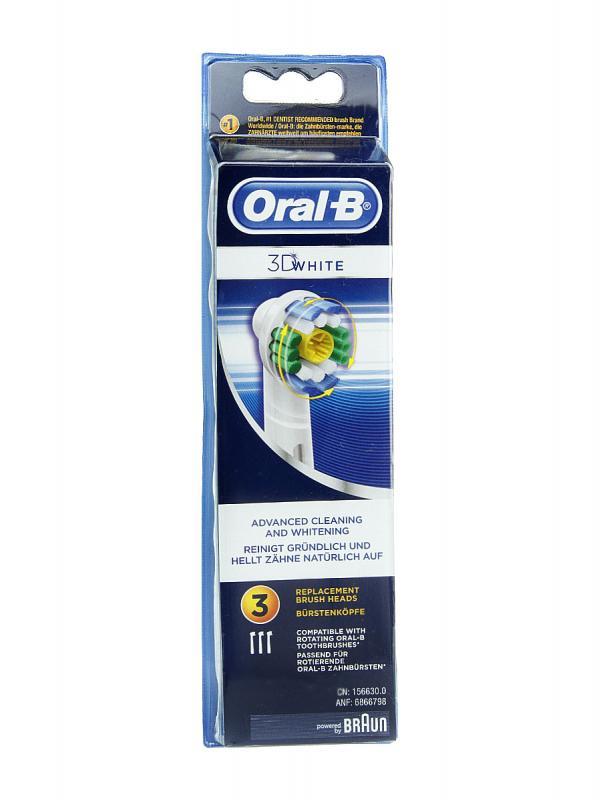 Oral b 3d white recambio de cepillo eléctrico 3 unidades